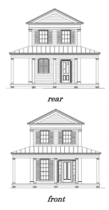 Front and Rear Elevation.