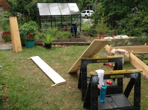 Raised bed construction.