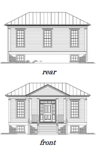 Rear and Front Elevations.