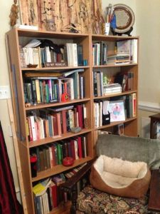 Overcrowded shelves.