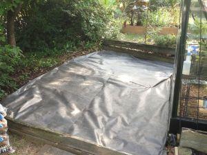 Landscape cloth complete.