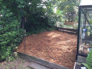 Shade garden preparation complete.