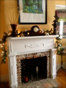 Sitting room mantle.