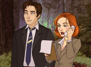 X-Files: Mulder and Scully by Ravietta