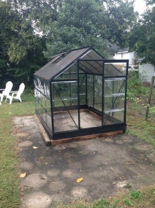 Green house before reposition.
