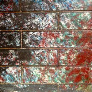 Original fireplace tile work.