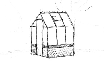 A quick sketch up the greenhouse alteration.