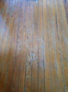 My bedroom floor.