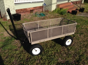 Happy new garden cart!