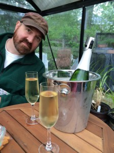 Cava time in the greenhouse!