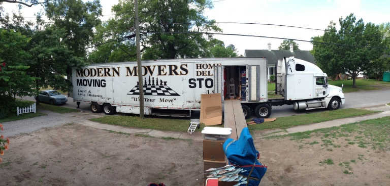 The movers arrived!