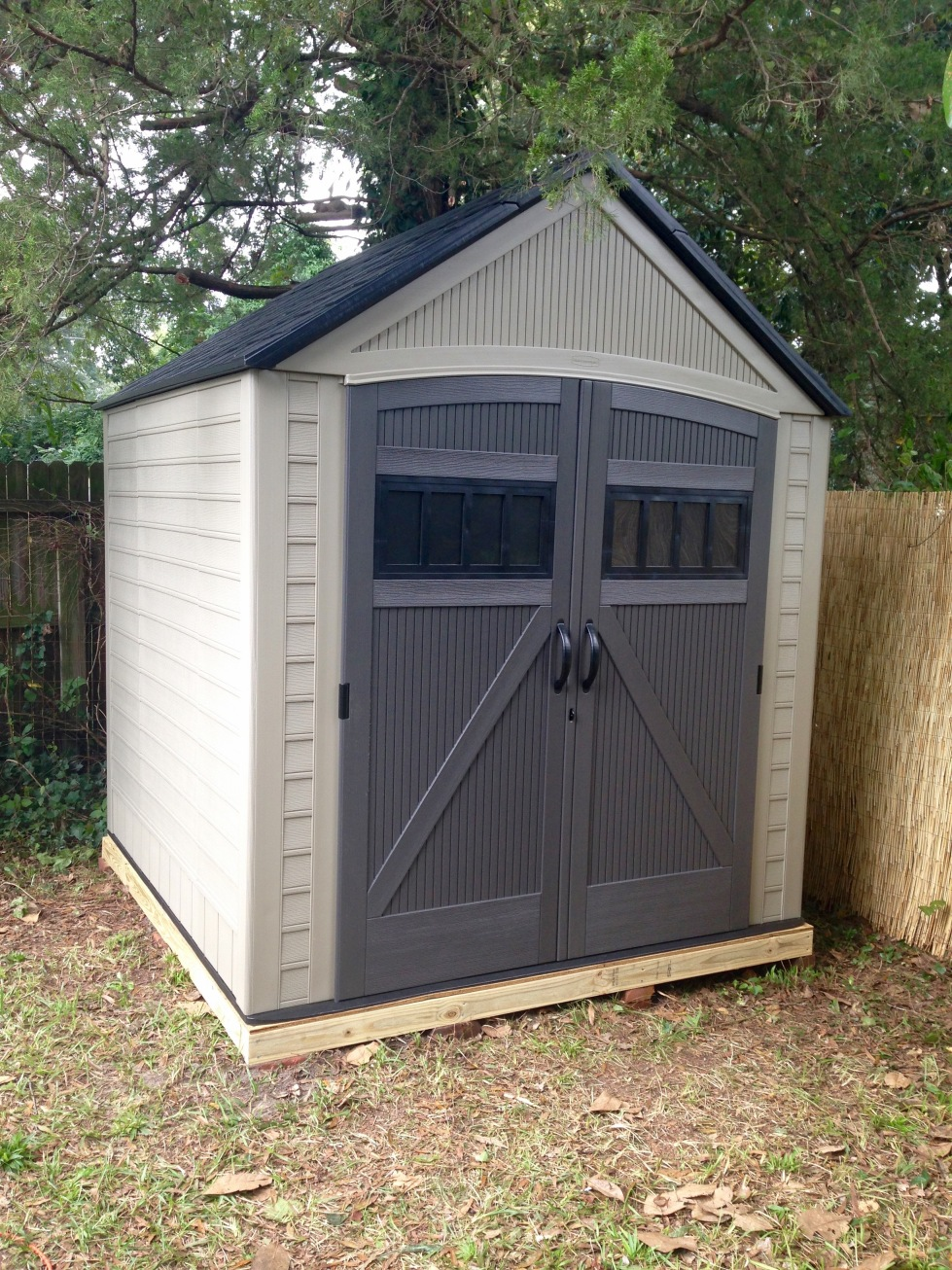 New garden shed completed.