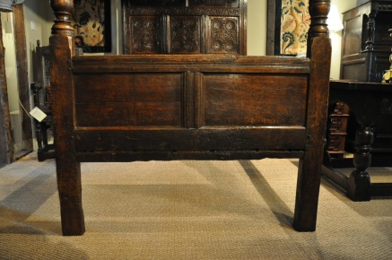 I originally copied a similar foot board to this one from 1661.Period Oak Antiques, U.K.
