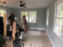 Floor preparation.